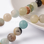 Natural Amazonite Round Bead Strands, 8mm, Hole: 1mm; about 47pcs/strand, 15.5