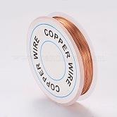 Copper Jewelry Wire, Chocolate, 0.3mm; 26m/roll