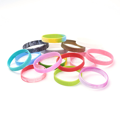 Free Sample Silicone Wristbands BraceletsBJEW-K165-03B-1