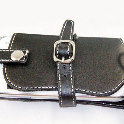 パンクの革の携帯電話/ポケットナップザックAJEW-O017-01-1