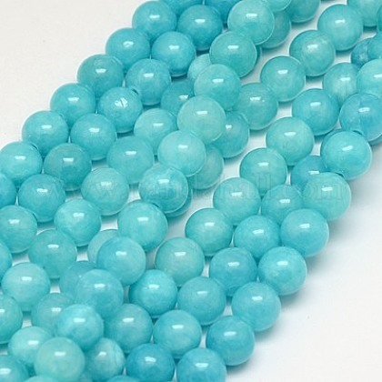 Natural Yellow Jade Beads Strands G-G598-10mm-YXS-28-1