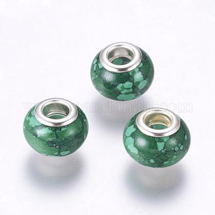 Perles Européennes turquoises synthétiquesSPDL-K001-B02-1