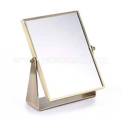 Rotatable Iron Makeup Mirror MJEW-E004-01-1