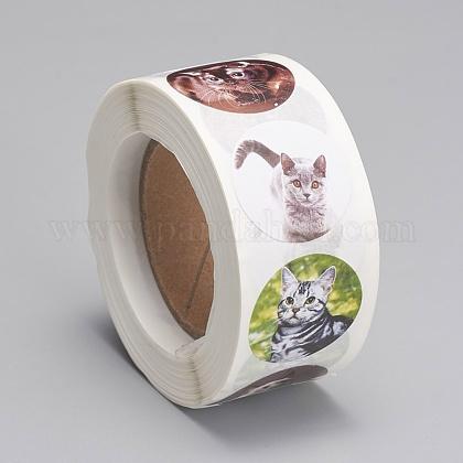Etiquetas autoadhesivas de etiquetas de regalo de papel kraftDIY-G013-A04-1