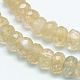 Faceted Coffee Watermelon Stone Glass Beads StrandsX-G-K090-17-1