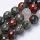 Naturales africanos abalorios bloodstone hebrasG-S281-21-6mm-1