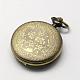 Cabezas vendimia huecos planos redondos de aleación de zinc reloj de cuarzo reloj de bolsillo para el collar del colganteWACH-R005-40-2