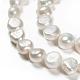 Hebras de perlas de agua dulce cultivadas naturalesPEAR-G007-06B-3