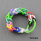 Fluorescent Neon Color Rubber Loom Bands Refills with AccessoriesX-DIY-R006-04-4