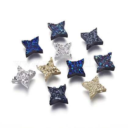 Perlas de resina de piedras preciosas druzy imitaciónRESI-L026-H-1