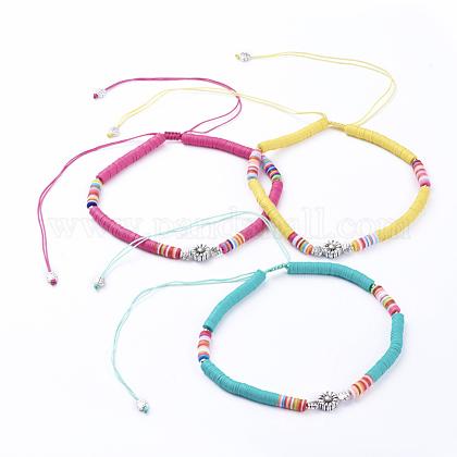 Collares ajustables con cordón de nylon trenzadoNJEW-JN02727-1