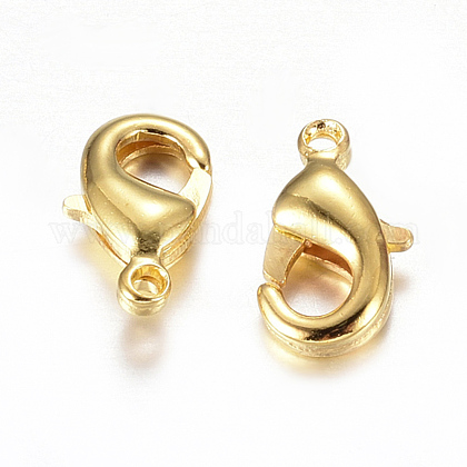 Environmental Brass Lobster Claw Clasps KK-901-G-NF-1