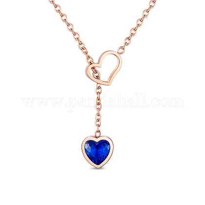 SHEGRACE® Titanium Steel Lariat Necklaces JN841A-1