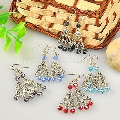 Fashion Tibetan Style Chandelier EarringsEJEW-JE00519-1