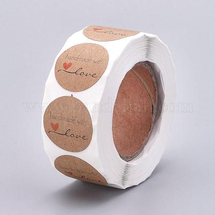 Etiquetas autoadhesivas de etiquetas de regalo de papel kraftDIY-G013-A01-1