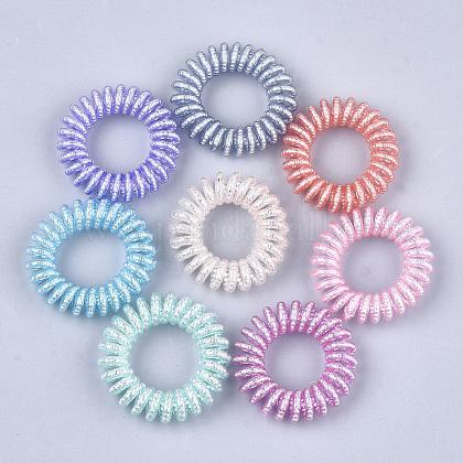 Lazos para el cabello elástico plástico de teléfono cableOHAR-T006-01-1