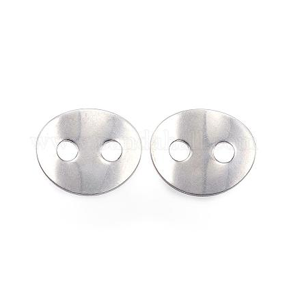 2-Hole 304 Stainless Steel Sewing ButtonsSTAS-F040-36-P-1