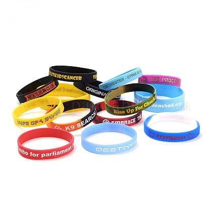 Free Sample Silicone Wristbands BraceletsBJEW-K165-06B-1