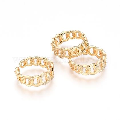 Adjustable Brass Finger RingsRJEW-G096-35G-1