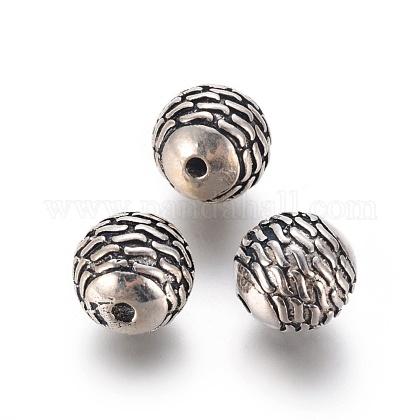 Thai Sterling Silver BeadsSTER-G029-60AS-1