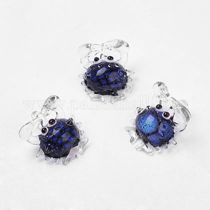 Handmade Dichroic Glass PendantsDICH-X043-M-1
