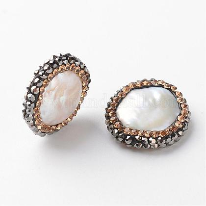 Perlas naturales abalorios de agua dulce cultivadasPEAR-D185-08-1