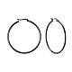 304 acero inoxidable pendientes grandesEJEW-F105-06B-1