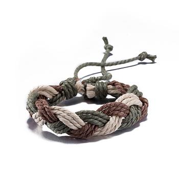Tressées réglables bracelets de cordon en cuir unisexe, colorées, 300mm