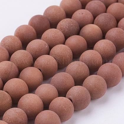 Synthetic Goldstone Beads StrandsG-J372-03-8mm-1
