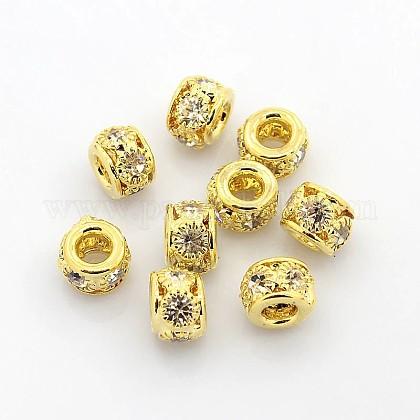 Abalorios de Diamante de imitación de latónRB-B071-8mm-A01G-1