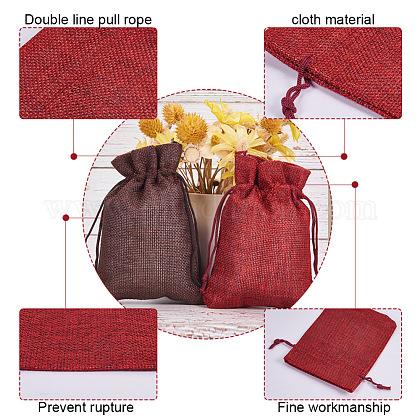 黄麻布ラッピングポーチ巾着袋ABAG-PH0002-25-1