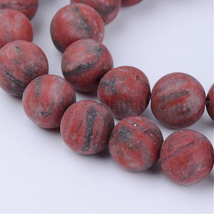 Jaspe de sésame naturel / perles de jaspe kiwiG-Q462-6mm-04-1