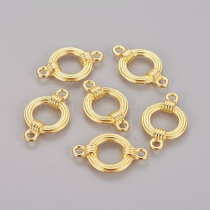 合金リンクコネクター  鉛フリー及びカドミウムフリー  リング  ゴールドカラー  27x17x5mm  穴:2.5mmX-EA9823Y-G-1