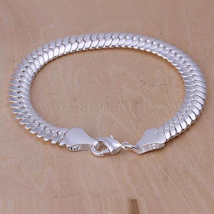 Unisex Brass Snake Chain BraceletsBJEW-BB12591-1