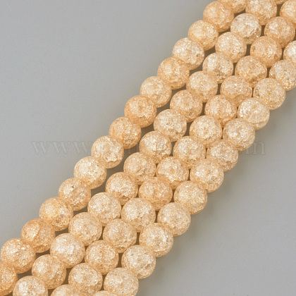 Synthetic Crackle Quartz Beads StrandsX-GLAA-S134-8mm-07-1