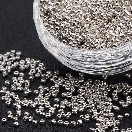 8/0 Electroplate Glass Seed BeadsSEED-Q004-01-1