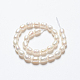 Grado de hebras de perlas de agua dulce cultivadas naturalesA23WM011-01-4