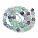 Natural Fluorite Beads StrandsG-S333-6mm-006-3