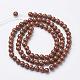 Natural Red Jasper Round Beads StrandsX-GSR4mmC011-3