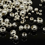 Iron Spacer Beads, Round, Silver Color Plated, 2~5mm, Hole: 1~2mm