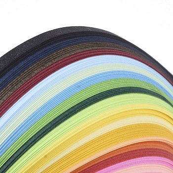 Quilling Paper Strips, Colorful, 390x3mm; about 120strips/bag