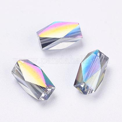 Imitation Austrian Crystal Beads SWAR-F055-8x4mm-31-1