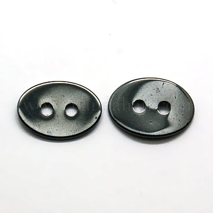 Hematite 2-Hole Sewing Buttons BUTT-D015-1