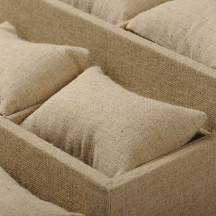 模造黄麻布のアクセサリーのブレスレットの枕表示BDIS-G002-03-1