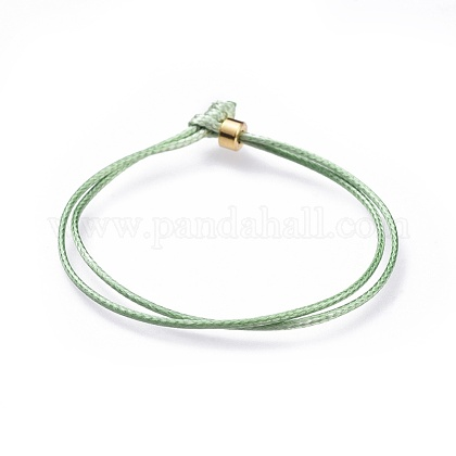 Pulseras de cordón de poliéster encerado coreano unisexBJEW-JB04597-02-1