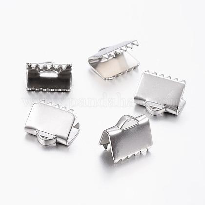 304ステンレス鋼リボンカシメエンドパーツSTAS-I071-11P-C-1