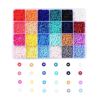 Cuentas de arcilla polimérica artesanal ambiental de 24 colorCLAY-X0011-01B-1