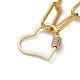 Iron Paperclip Chain NecklacesNJEW-JN02666-02-2