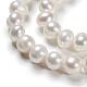 Perlas naturales abalorios de agua dulce cultivadasPEAR-D053-1-3
