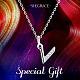 Shegrace® 925 plata esterlina collares pendientes inicialesJN918A-5